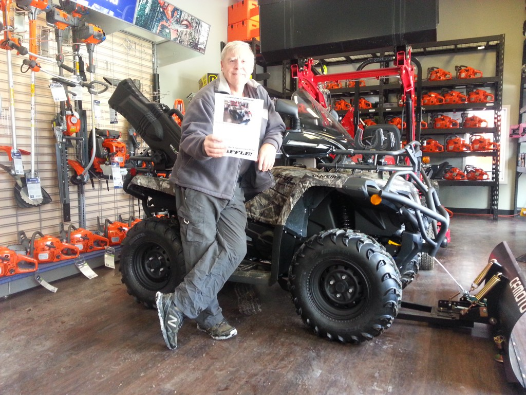 Get ONE of only 400 tickets sold for a chance to win this $9999.99 ATV!